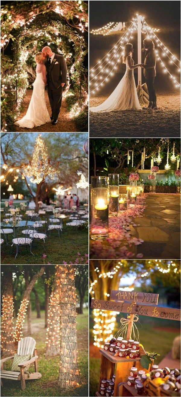 Combine fairylights wedding decor ideas - Deer Pearl Flowers