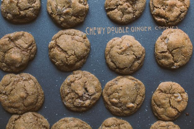 chewy double ginger cookies
