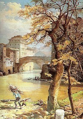 Ettore Roesler Franz e la Roma perduta l'Isola Tiberina e Ponte Fabricio