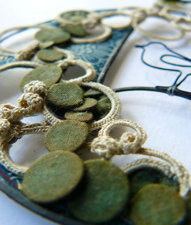 Detail from circle embroidery Liz Cooksey