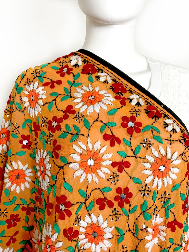 Shop Online our exclusive collection of hand embroidered Phulkari Dupatta. Ready to Ship fro California. Free shipping in USA! We Ship worldwide. Buy Online www.pinkphulkari.com