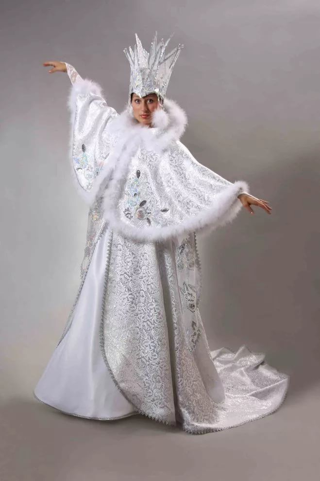 Платье снежной королевы своими руками фото