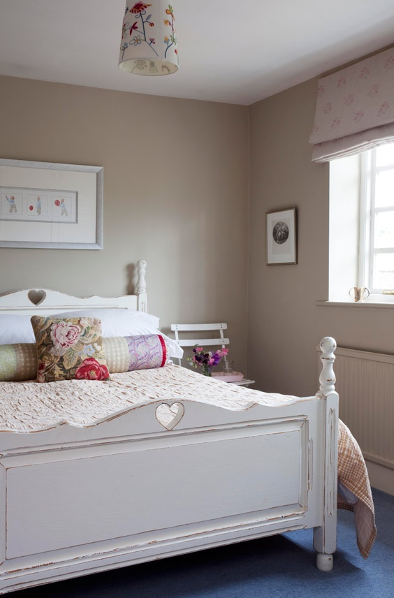 Love the colour of the walls they are painted in Stony Ground by Farrow & Ball
