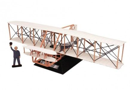 Paper model airplane the Wright brothers' Flyer