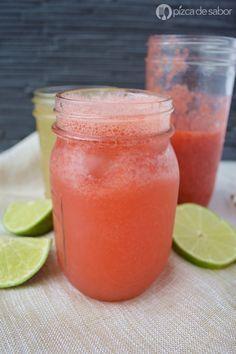 Limonada de fresa natural (fácil & rápida) - Pizca de Sabor