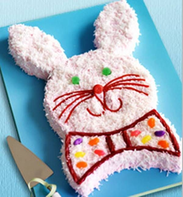 20+ Creative DIY Easter Bunny Cake Recipes --> DIY Bunny Cake #food #recipe #Easter #bunny_cake