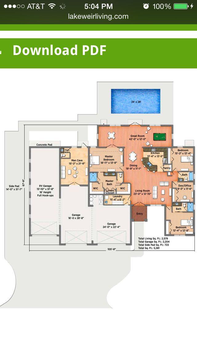 37 best Big house plans images on Pinterest   House floor plans ...