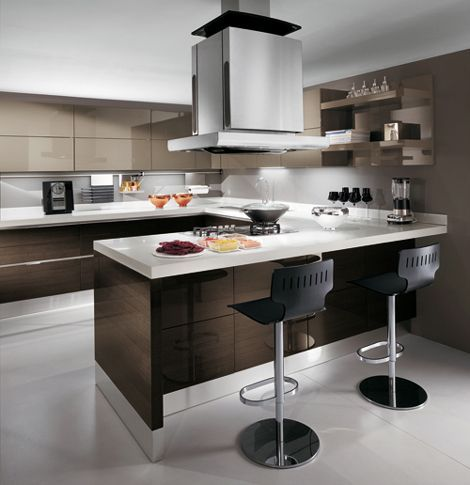 Top 25 ideas about small modern kitchens on pinterest for Modern kitchen layout