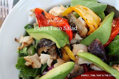Simply...This. That. And The Other: Scott's Firehouse Grilled Fajita Taco Salad