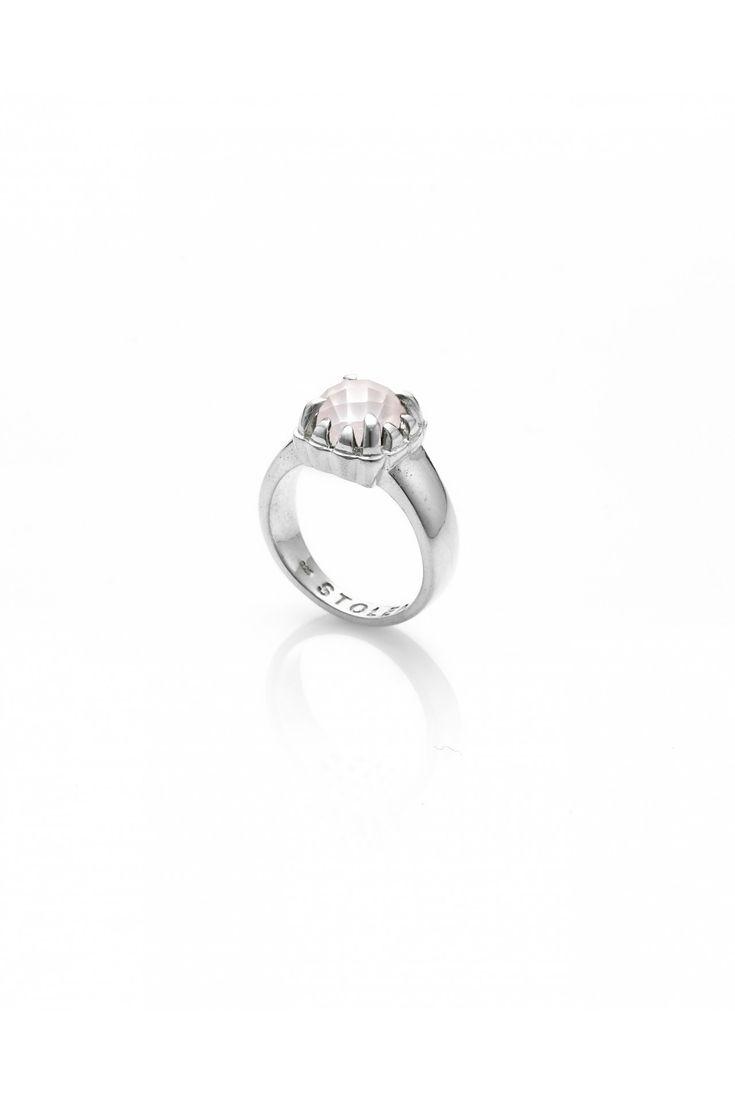 Baby Claw Ring Rose Quartz - Silver / Rose Quartz - View All - Jewellery | Stolen Girlfriends Club