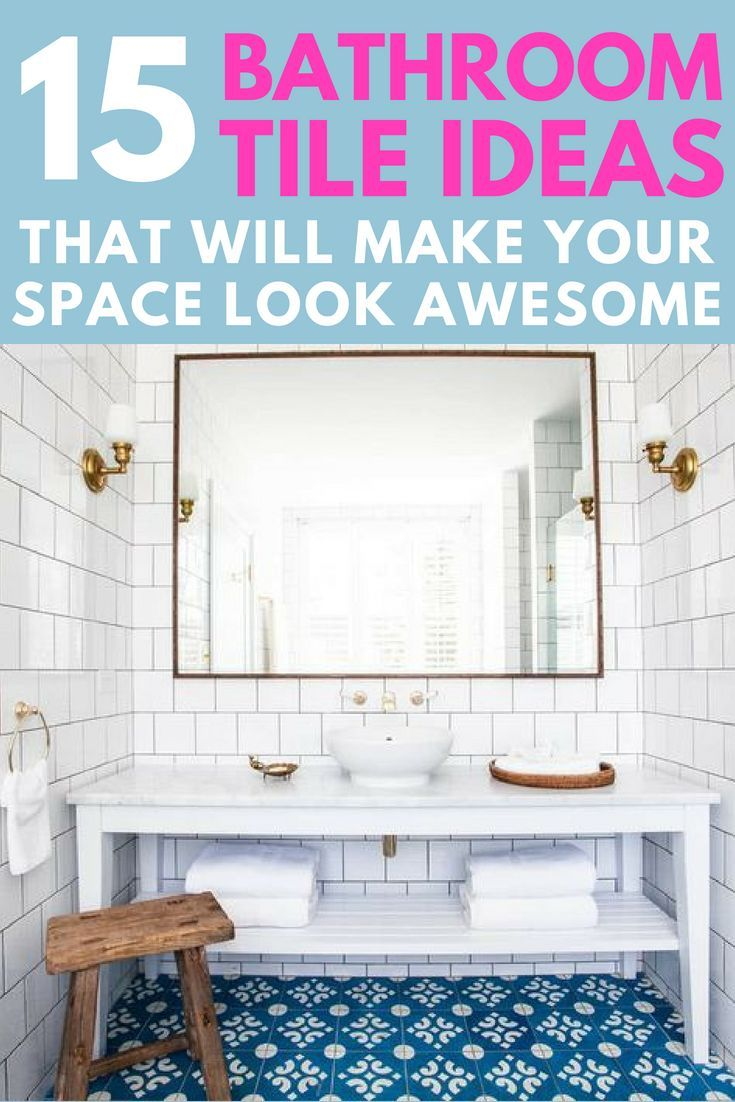 15 Awesome Tile Ideas For Your Bathroom Diy Home Decor On A Budget Bathroom Lighting Design Home Decor