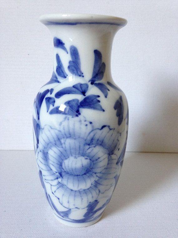 Vintage Blue And White Vase Fl Home