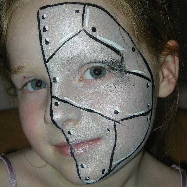 Half Robot Face Painting | Flickr - Photo Sharing!