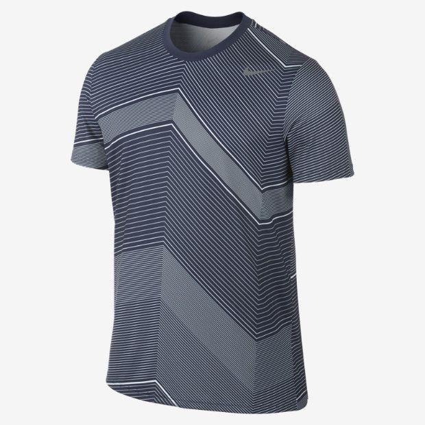 Nike Rally Sphere Stripe Men's Tennis Shirt
