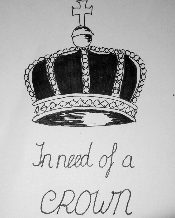 In need of a crown...kroon drawing tekening lafincreaties