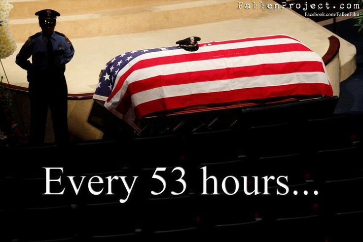 Every 53.5 hours an officer is killed in the line of duty. Support your police like a life depends on it!