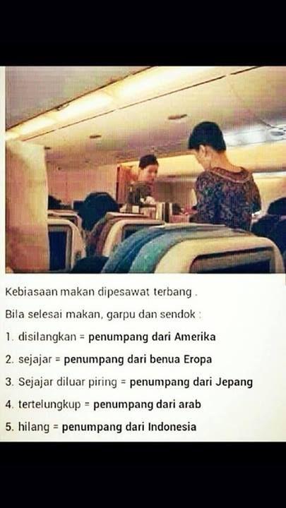 Kebiasan makan dipesawat terbang ...
