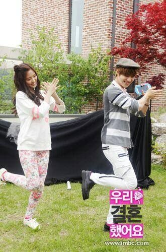 We Got Married - Taeun Couple <3  Watch them @ http://wgmhammer.blogspot.com/2014/02/wgm-taeun-couple-eng-sub.html