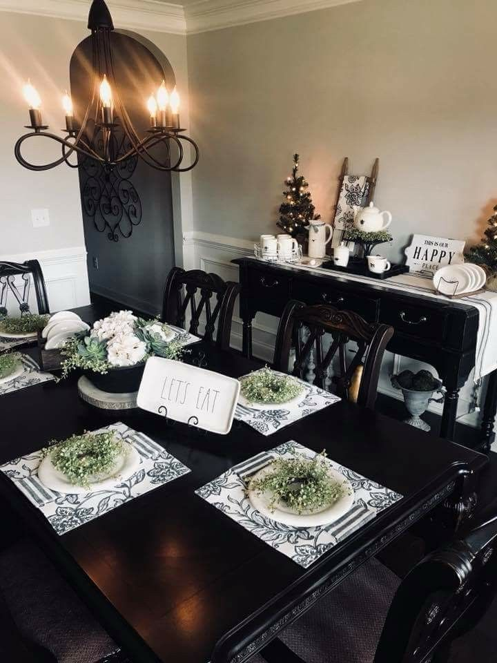 Rae Dunn Table Setting Dining Room Kitchen Pantry Settings