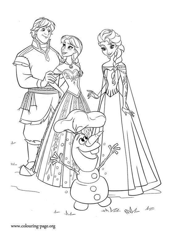 Anna, Kristoff, Elsa and Olaf are happy that summer has returned to ...