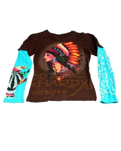 Brandfashion Online | Fashion and Accessories for Everyday - Original Ed Hardy T-Shirt (Native American Woman) Small, $17.00 (http://www.lavendibags.com/original-ed-hardy-t-shirt-native-american-woman-small/)