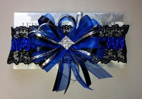 Royal Blue Prom Garter