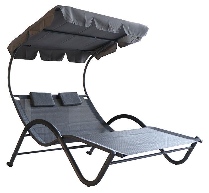 Doppelliege SHELLY - Sonnenschutz - modern Style