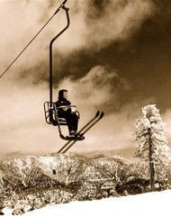 vintage skiing - single chairlift
