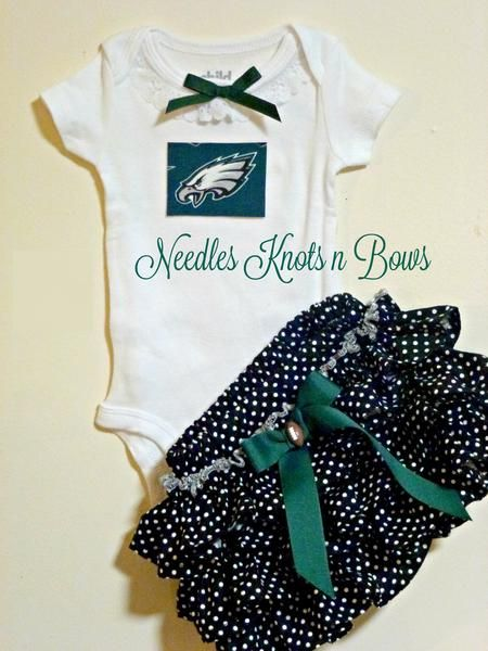 Girls Philadelphia Eagles Cheerleader Outfit, Girls Eagles Coming Home Outfit, Toddlers, Newborn Girls Football Outfit
