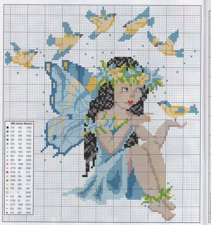 Just Cross Stitch Patterns | Learn craft is facilisimo.com  blue fairy