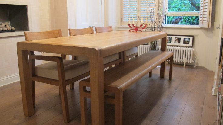 habitat dining table and bench 3