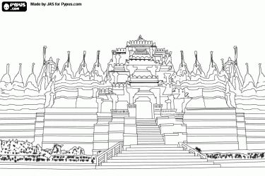 Monuments Asia and Coloring pages