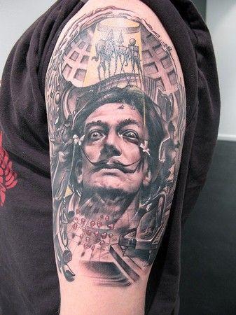 AMAZING Dali Tattoo. Love it.
