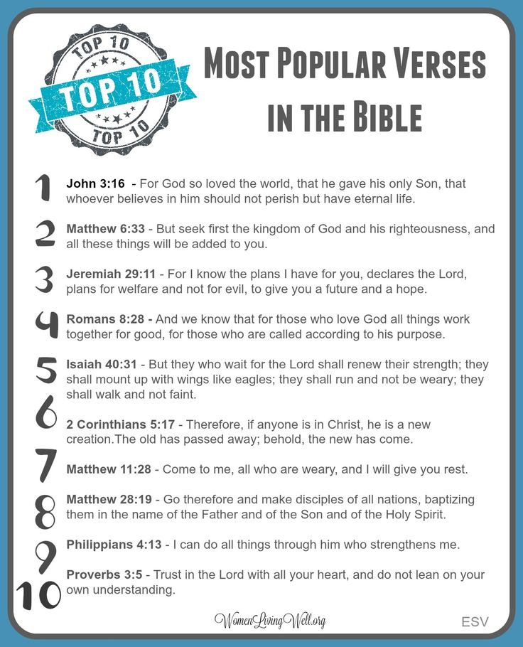 Top 10 Most Popular Verses in the Bible (2)