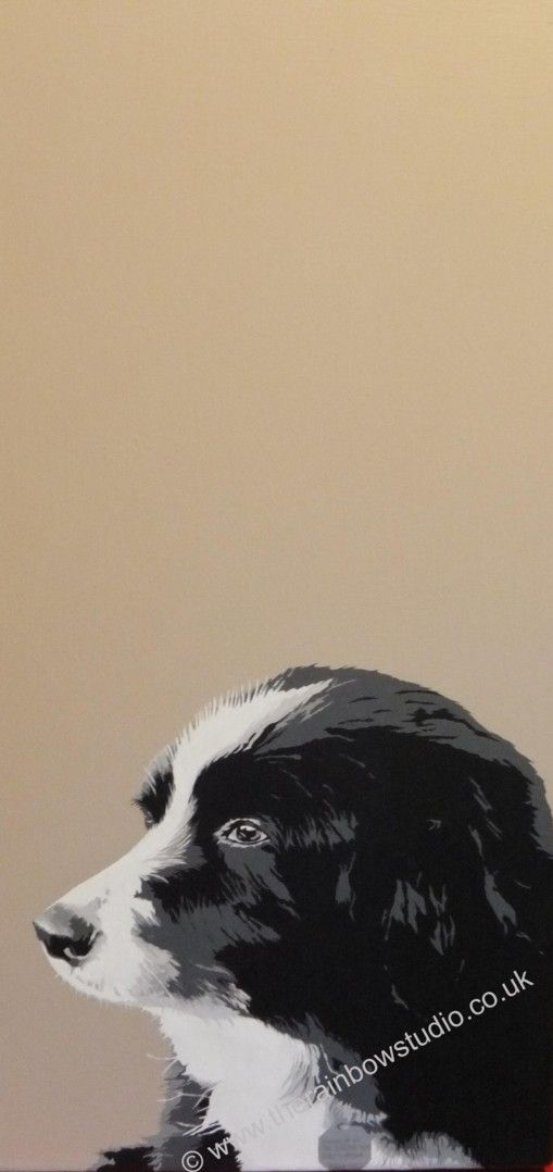 """Pet Portrait Acrylic on 12""""x24"""" canvas by Emma Giles. Commissions taken. www.therainbowstudio.co.uk"""