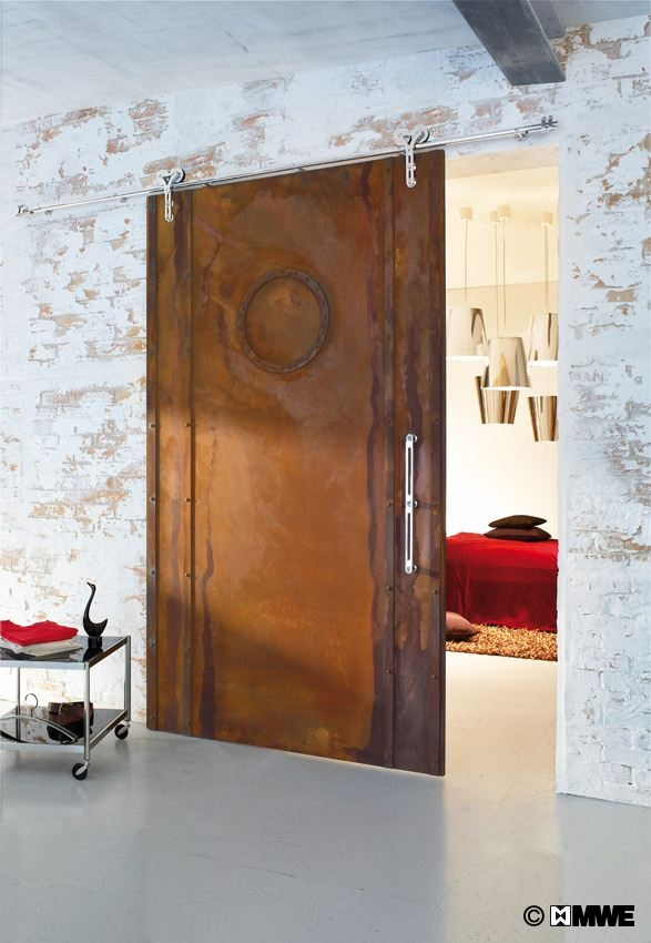 Rusty duplex sliding door made in germany for Sliding glass doors germany