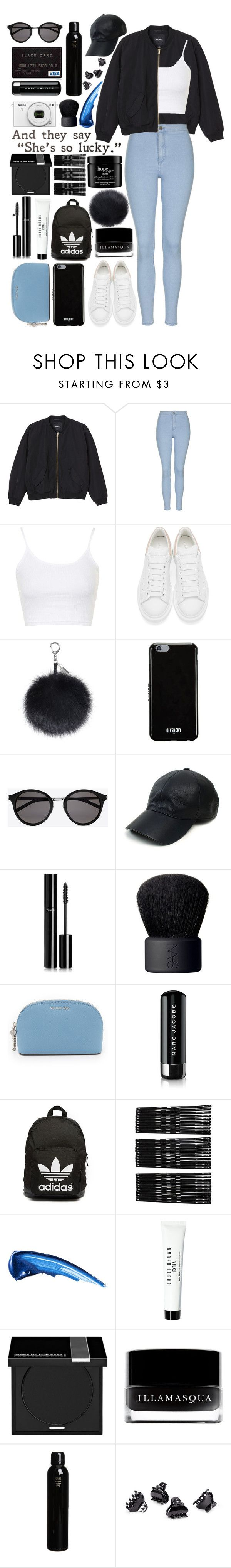 """""""#166 - Don't Mess With My Heart"""" by lolohohokoko ❤ liked on Polyvore featuring Monki, Topshop, Alexander McQueen, Givenchy, Yves Saint Laurent, Vianel, Chanel, NARS Cosmetics, MICHAEL Michael Kors and Marc Jacobs"""