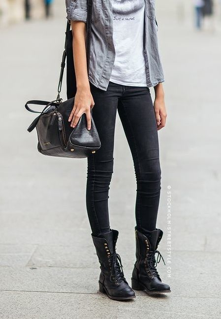 Best 25+ Combat boot outfits ideas on Pinterest | Fall clothes Winter clothes 2015 and Jean ...
