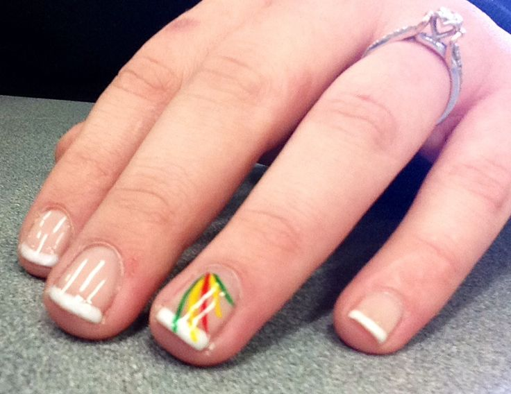 Bob Marley Rasta Nails! Simple Gel Manicure