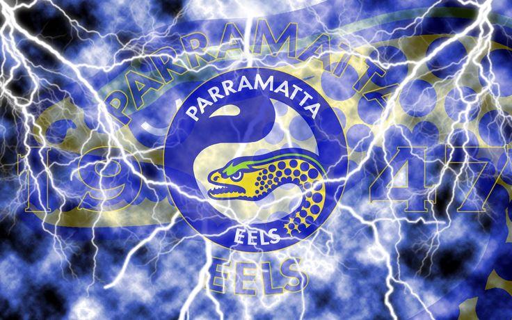 Parramatta Eels Lightning Wallpaper (Version 1) by Sunnyboiiii