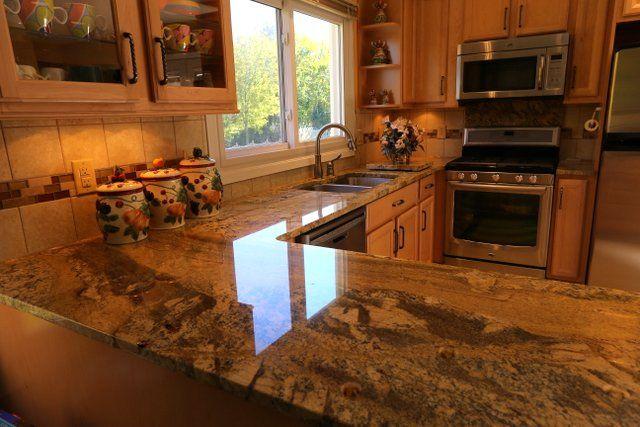 River Bordeaux granite kitchen countertops | Our Work | Pinterest |  Marbles, Granite kitchen and Kitchen countertops