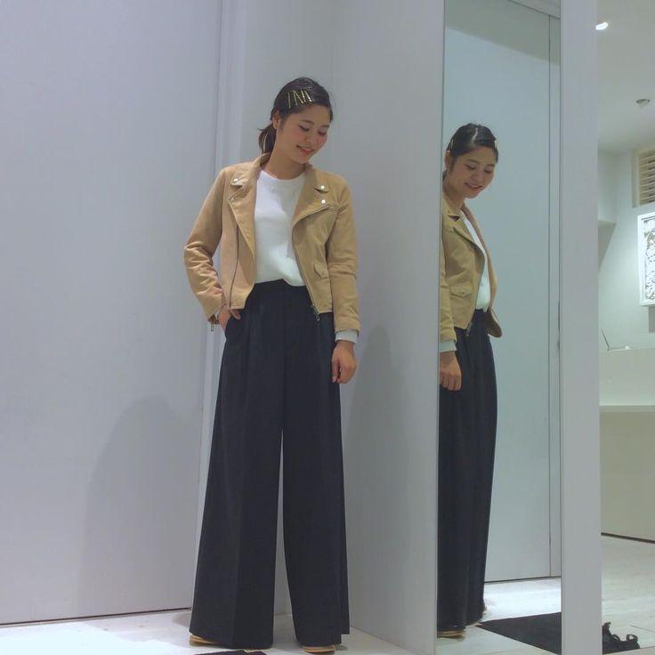 new arrival✨ staff coordinate*ikumatsu #tops ¥16,000+tax #okiraku #coat ¥49,000+tax #domenico_savio  #bottom ¥25,000+tax domenico_savio #shoes ¥19,800+tax #SOLPREA  #おはようございます。wルクア#studious オープン しております!是非お立ち寄りくださいませ #staff#coordinate#snap#fashion#スタッフ#コーディネート#スナップ#ファッション#ラムレザー#レザージャケット#スウェード#ワイドパンツ#サイドゴアブーツ#オキラク#ウール#秋#osaka#newarrival #lucua#AW#outfi