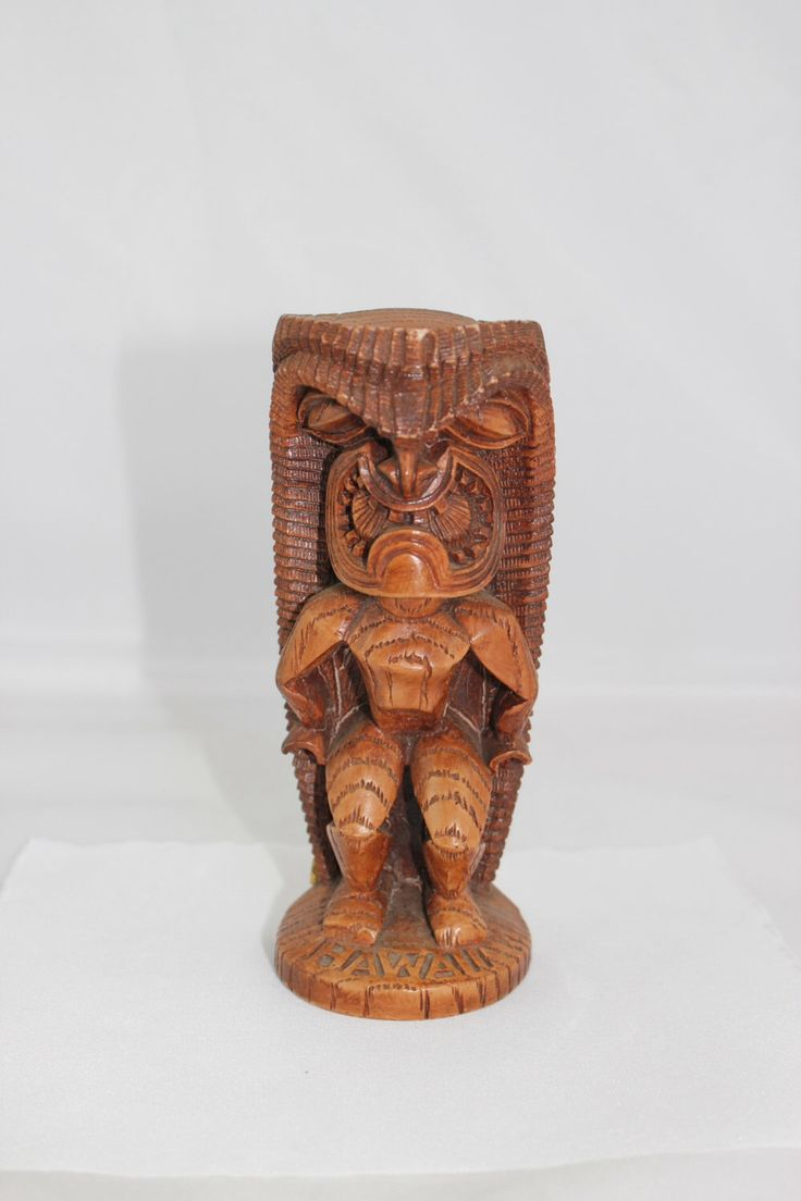 Vintage Coco Joes Tiki Statue, KU God of Strength Hapa-Wood Statue  1979 made in Hawaii by JoeStitchn on Etsy https://www.etsy.com/listing/126009914/vintage-coco-joes-tiki-statue-ku-god-of