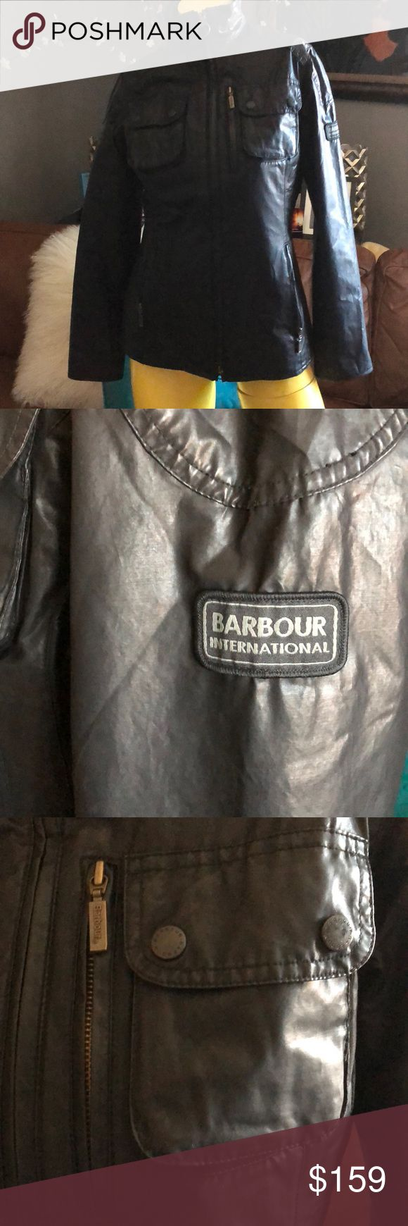 BARBOUR WAX JACKET BARBOUR WAX JACKET NWOT  SIZE 4; FABULOUSLY Constructed... classic utility jacket in waxed cotton; 💦 waterproof with quilted lining; zip front; lots of pockets... semi-fitted silhouette... NEVER WORN; NWOT Barbour Jackets & Coats