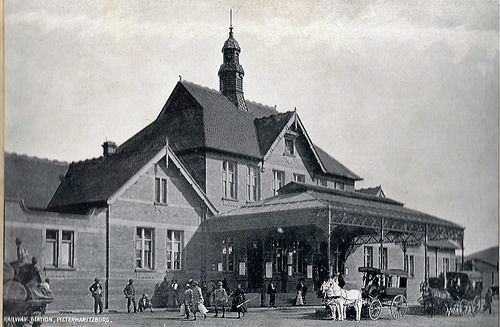 Railway Station. Taken circa 1905. Pietermaritzburg, Natal