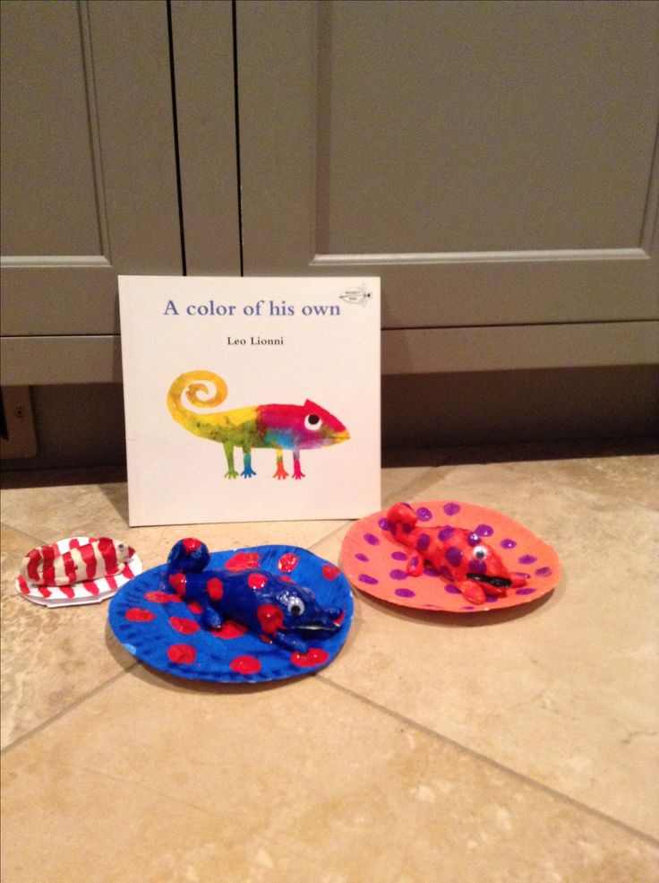 Air dry clay chameleon - Leo Lionni's A Color of His Own. Great for mommy and me, preschool or elementary art class
