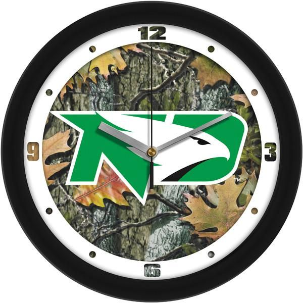 New - North Dakota Fighting Hawks-Camo Wall Clock