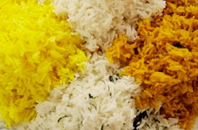 LEMON RICE | CURRY LEAVES, CORIANDER AND MUSTARD SEED