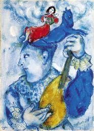 Marc Chagall - the clown on the mandolin