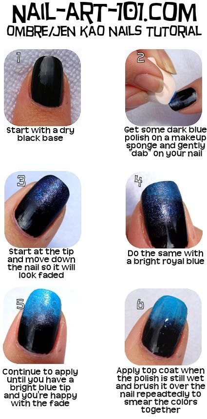Ombré nails tutorial